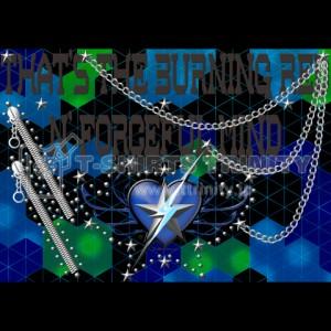 ロッカーズ ブランドのプリントデザイン-STUD-001-Blue-02